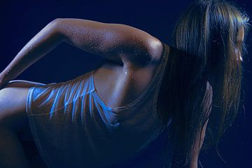 Blue Velvet (nude / naakt) von Kees de Knegt