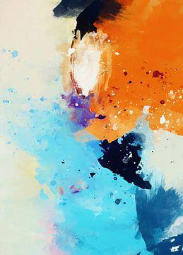 Abstrakte Komposition 1172 von Angel Estevez