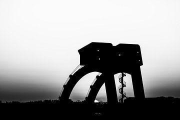 Das Wehr bei Driel am Rhein von Eddy Westdijk