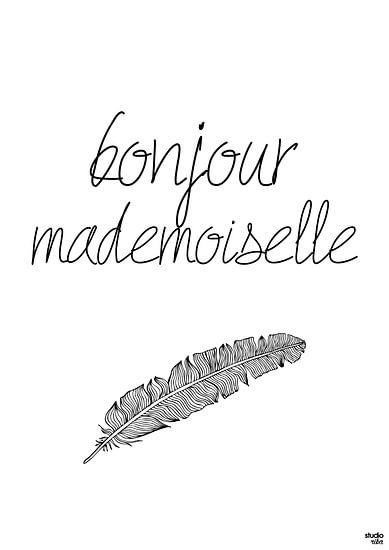 Bonjour Mademoiselle van Studio Riba