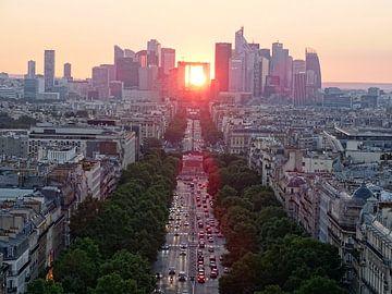 Zonsondergang bij La Defense van Michaelangelo Pix