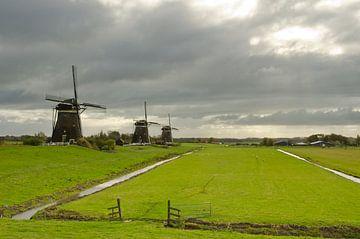 Herfstluchten bij de driemolengang bij Stompwijk van Remco Swiers