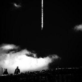 Schwarz Weiss - Silberstreif am Horizont van Holger Debek