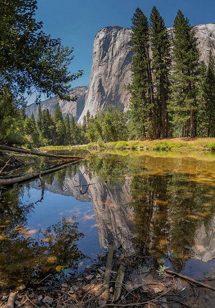 El Capitan reflectie, Yosemite national park (USA)