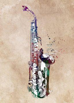 Saxofoon 5 muziekkunst #saxofoon #muziek van JBJart Justyna Jaszke