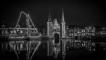 Waterpoort en Sneeker skutsje  von Ettie van der Meulen-Vermaning