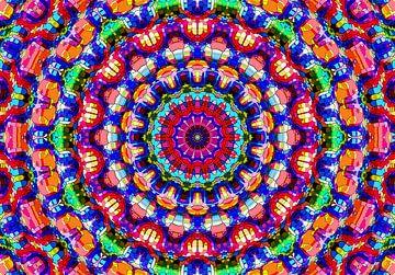 Hippie Time! (Mandala in Rood) van Caroline Lichthart