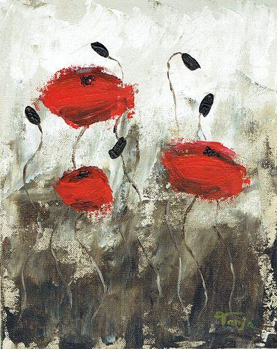 """Impressionistisches Gemälde """"Klatschmohn 2"""" von Tanja Udelhofen"""