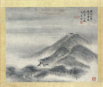 Chinese schildering, Gao Qipei, 1700 - 1750