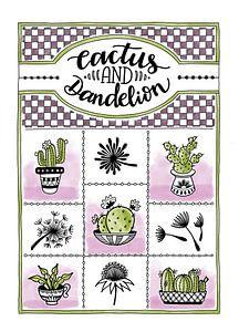 Cactus en paardenbloem van
