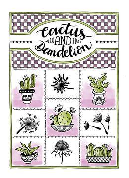 Cactus en paardenbloem van Annemieke Nijenhuis