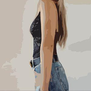 Illustration weibliche Mode Kunst von DaniellesArt