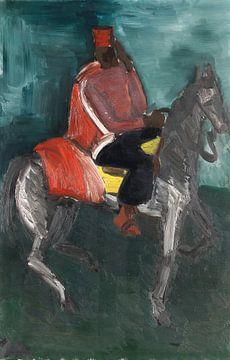 Groetende Spahi te paard, HELMUT KOLLE, 1929