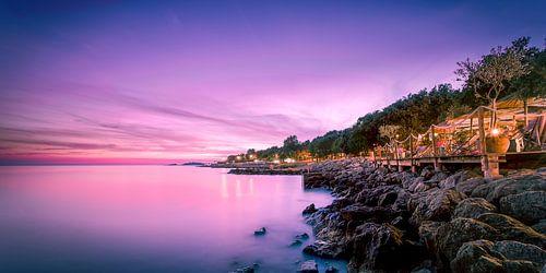 Camping Bijela Uvala in Porec Kroatie bij nacht
