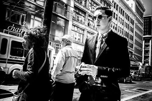Rushing pedestrians in San Francisco traffic von Joris Louwes