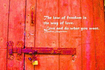 De wet van vrijheid is de weg naar liefde van Cora Unk