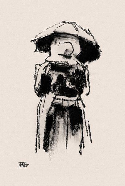 Huizervrouw met plu