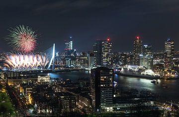 Feux d'artifice nationales 2018 à Rotterdam sur MS Fotografie | Marc van der Stelt