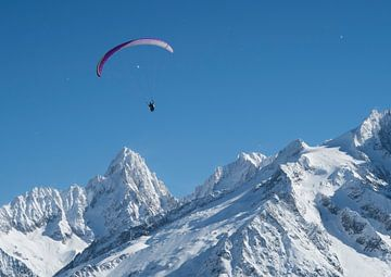 Gleitschirmflieger in Chamonix