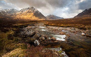 River Coupall, Schotland von Ton Drijfhamer