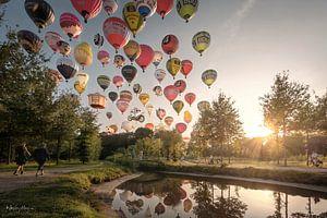 Een avondje ballonnen kijken, gevat in 1 foto van