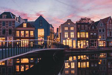 Zonsondergang Catharinabrug sur Chris van Keulen