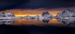 Steinefjorden panorama van