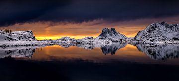Steinefjorden panorama van Wojciech Kruczynski