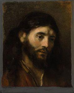 Hoofd van Christus, de stijl van Rembrandt van Meesterlijcke Meesters