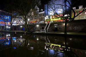 Bioscoop Rembrandt Theater aan de Oudegracht in Utrecht
