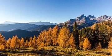 """Berglandschaft """"Bischofsmütze im Herbst"""" von Coen Weesjes"""