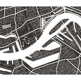 Rotterdam Retro - Map (bruin) van Christian de Leeuw