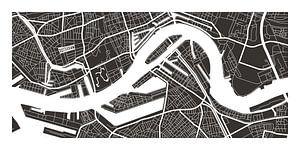 Rotterdam Retro - Map (bruin) van