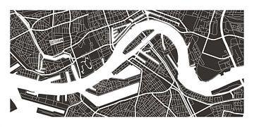 Rotterdam Retro - Map (bruin) sur Christian de Leeuw