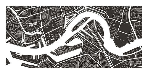 Rotterdam Retro - Map (bruin)