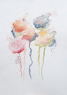 Blumen Aquarell von Bianca ter Riet