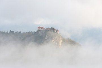 Luchtkasteel omgeven door wolken en nevel van iPics Photography