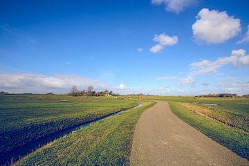 Landschapsfoto van wijds Nederlands landschap op de waddeneilanden van