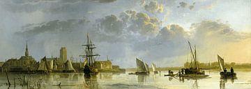 Gezicht op Dordrecht vanuit het noorden, Aelbert Cuyp van