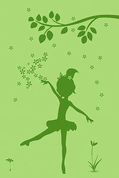 Flower girl silhouette sur Marion Tenbergen