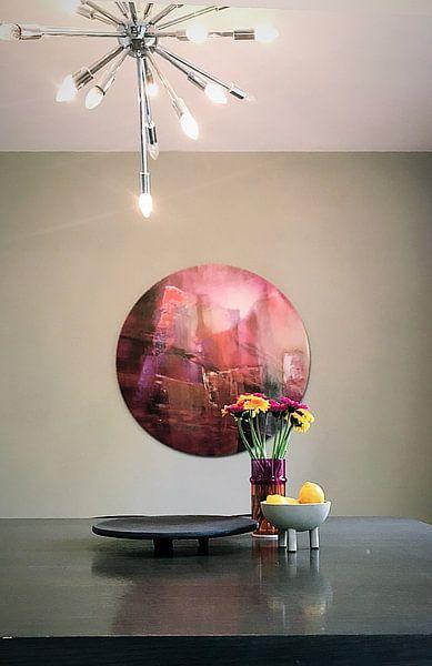 Klantfoto: Doorzichtigheid: rood ontmoet magenta en roze van Annette Schmucker