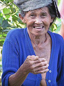 Vrouw in Bali
