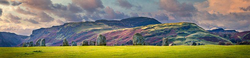 Steencirkel Castlerigg, Lakedistrict, Groot Brittannië van Rietje Bulthuis