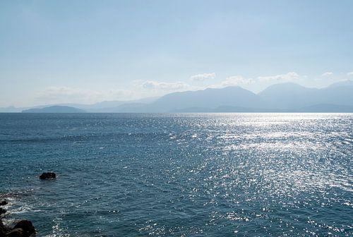 uitzicht over de zee in Kreta