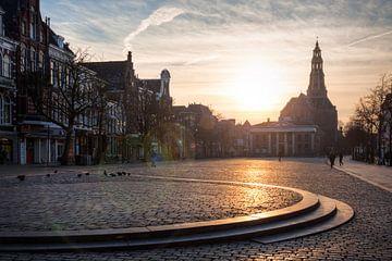 Vismarkt Groningen bij Zonsondergang sur Frenk Volt