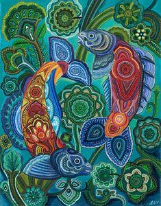 Angeln Zen-Stil von Drawing made by Lin