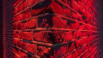 Mauerwerk in Rot von Noud de Greef
