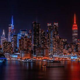 Manhattan skyline van Reinier Snijders