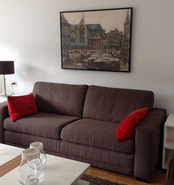 Kundenfoto: Dam Square in Amsterdam, George Hendrik Breitner, auf leinwand