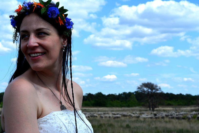 Bruid op de heide van Ima Rhebok